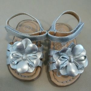 Baby Girl Silver Sandals by Circo, size 2
